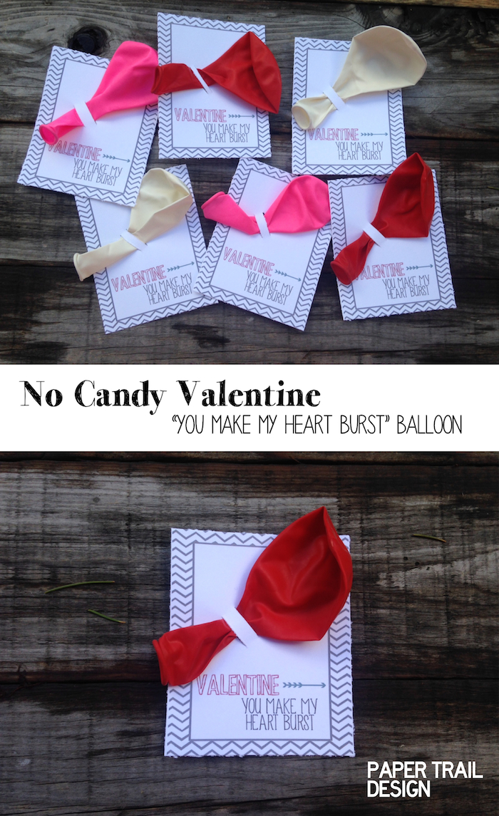 Free Balloon Valentine Printable {No Candy Valentine ...