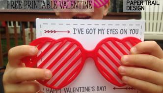 Free Printable Valentine Heart Glasses