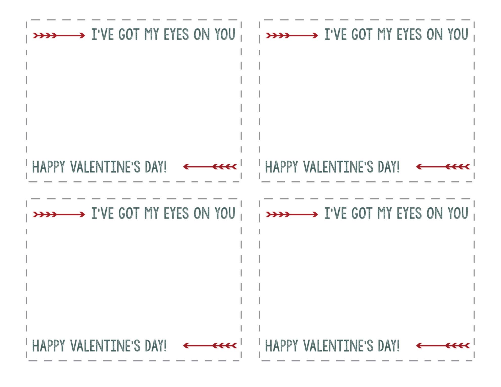free printable valentine heart glasses paper trail design