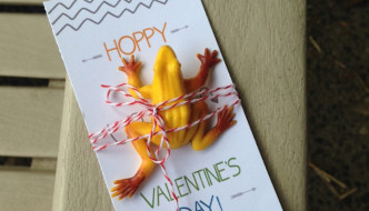 DIY Frog Valentine Printable Card