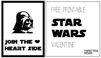 Darth Vader Valentine Printable {Star Wars}