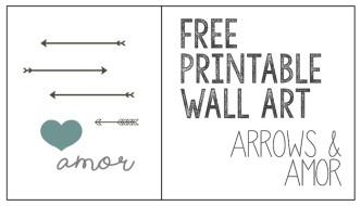 Printable Wall Art: Arrows & Amor