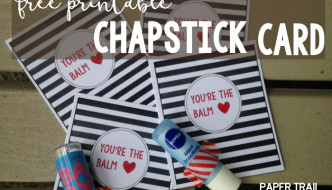 "Chapstick Card Free Printable ""You're the Balm"""