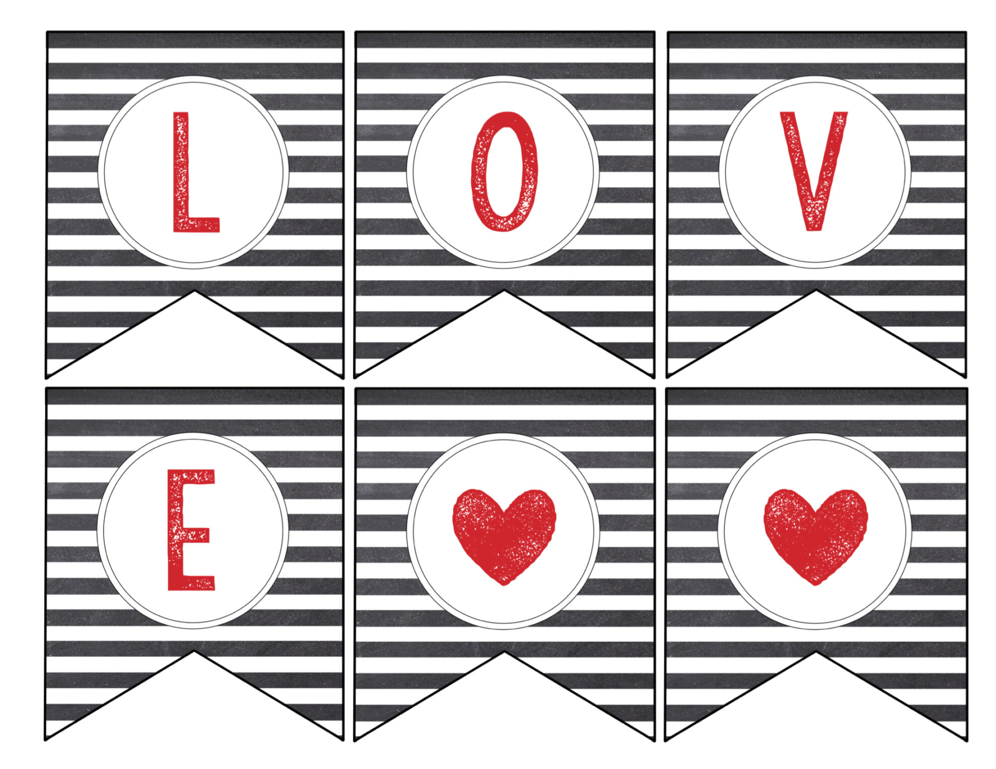 Free Printable Love Banner & Matching Print - Paper Trail ...