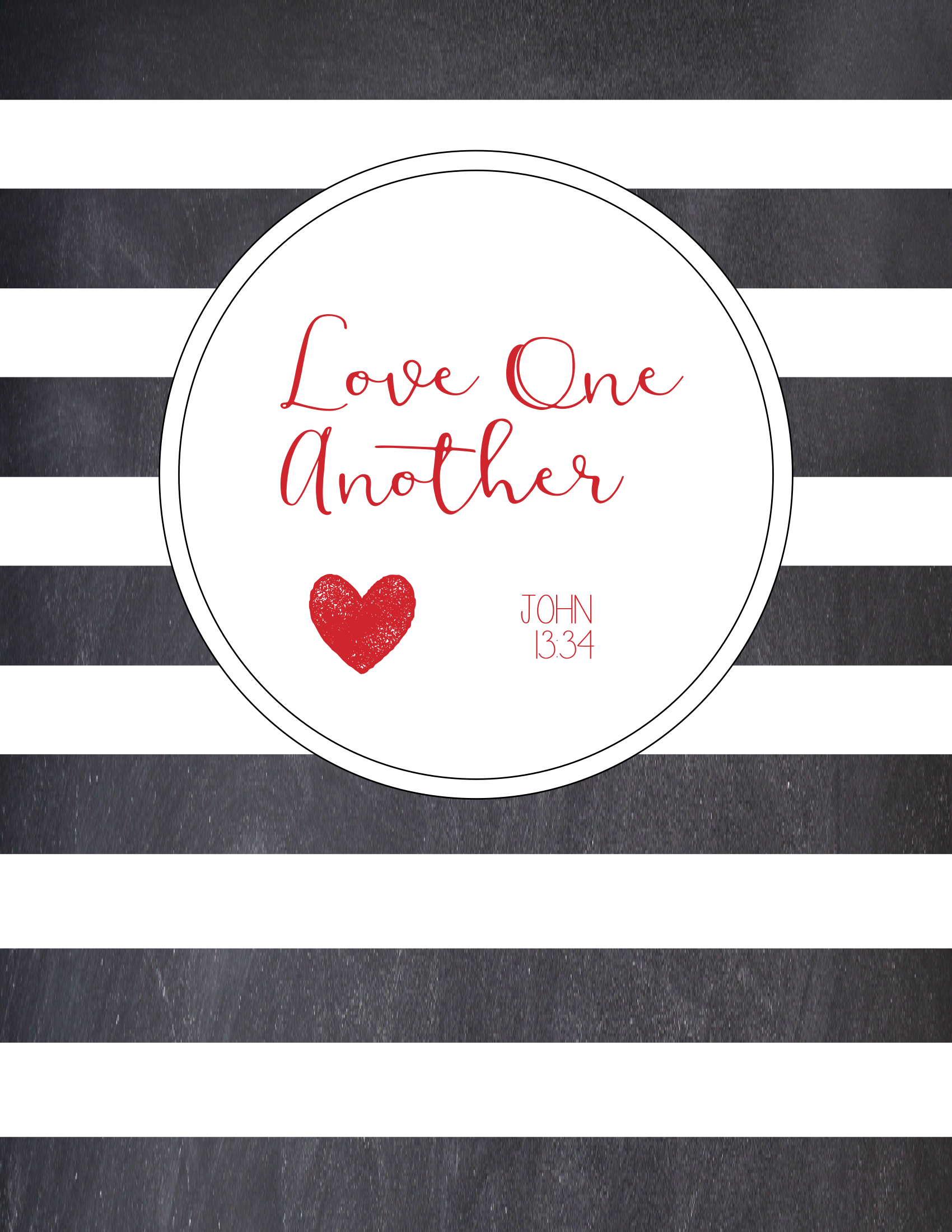 photo about Love One Another Printable named Free of charge Printable \