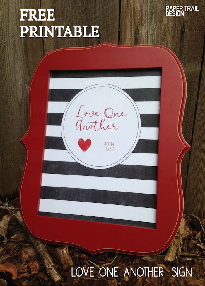 """FREE Printable """"Love One Another"""" Print & Matching Banner ..."""