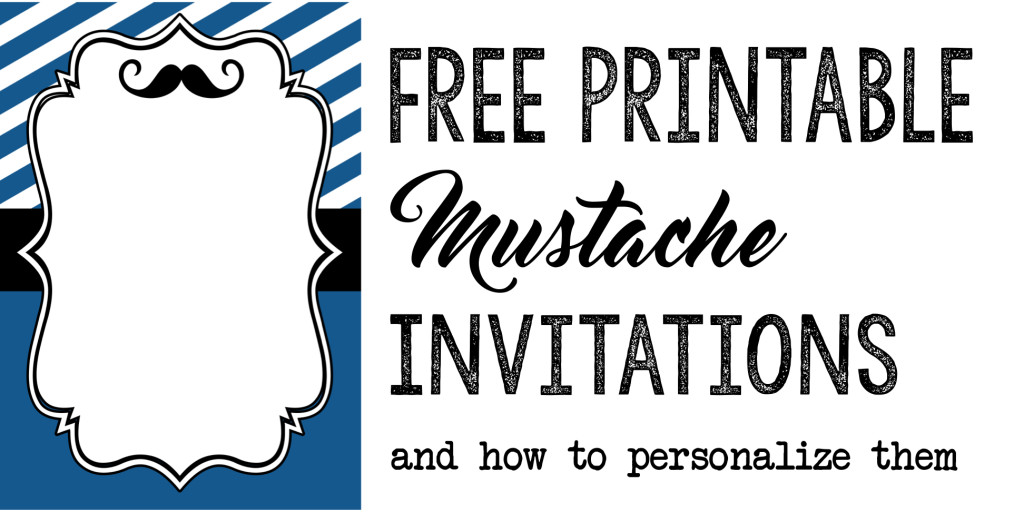 Mustache party baby shower or birthday invite paper trail design filmwisefo Image collections
