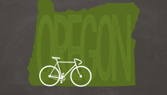 Oregon Bicycle Print