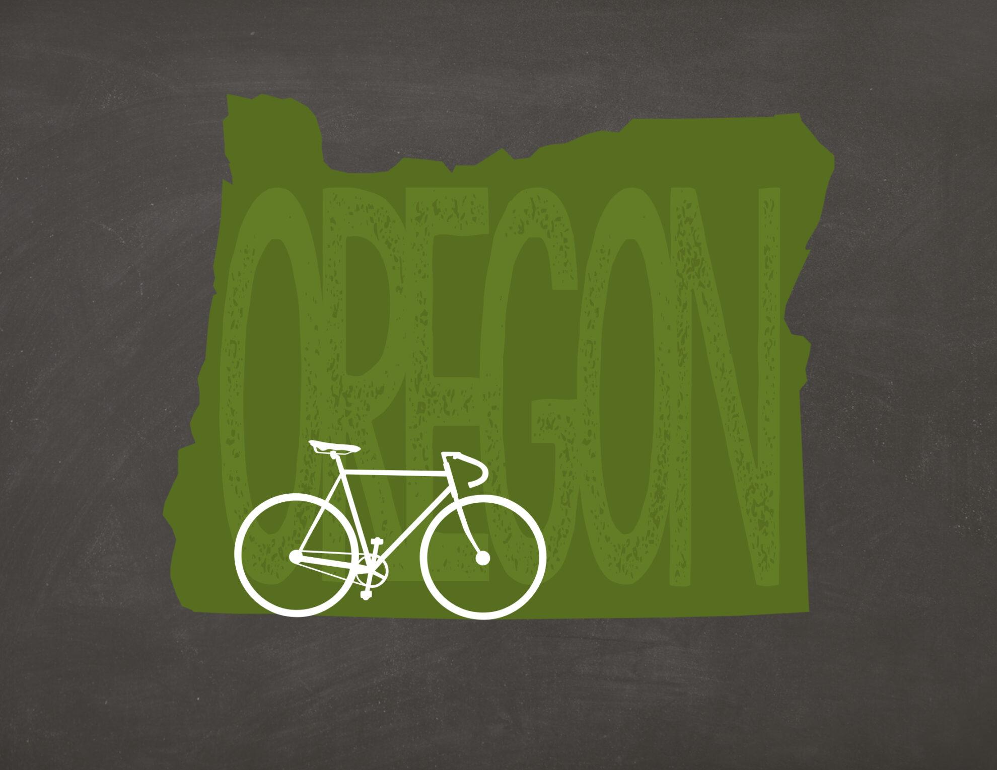 Oregon Bicycle Print: Free printable Oregon posters. Print and hang on your wall! Print with the bike or just plain.