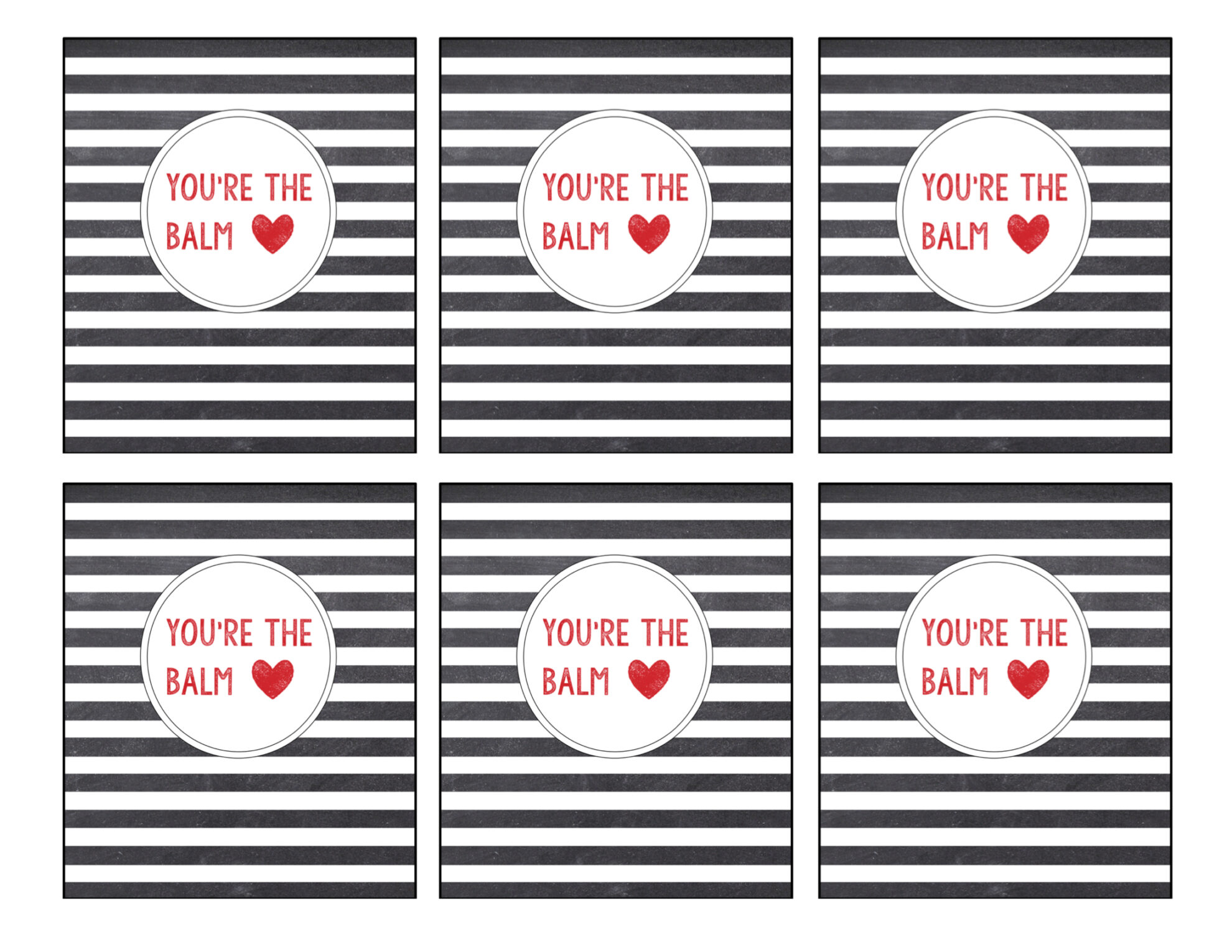 graphic relating to You're the Balm Free Printable identified as Chapstick Card Absolutely free Printable \