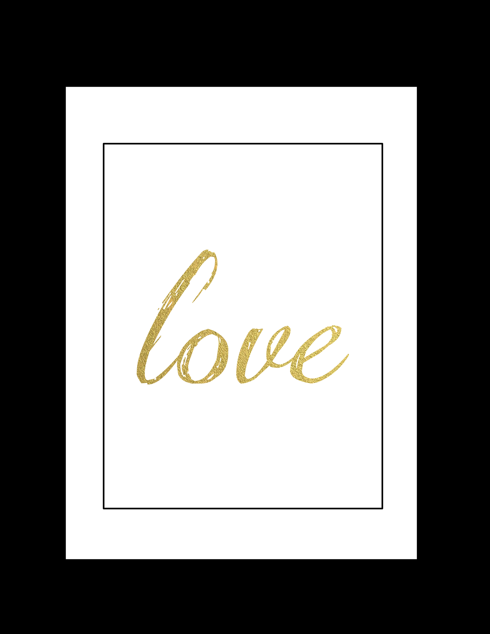 Free Printable Wall Art Black And Gold Love Paper Trail