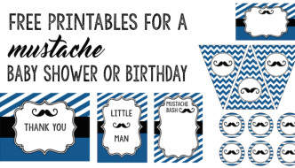 Mustache Party: 10 Free Printables