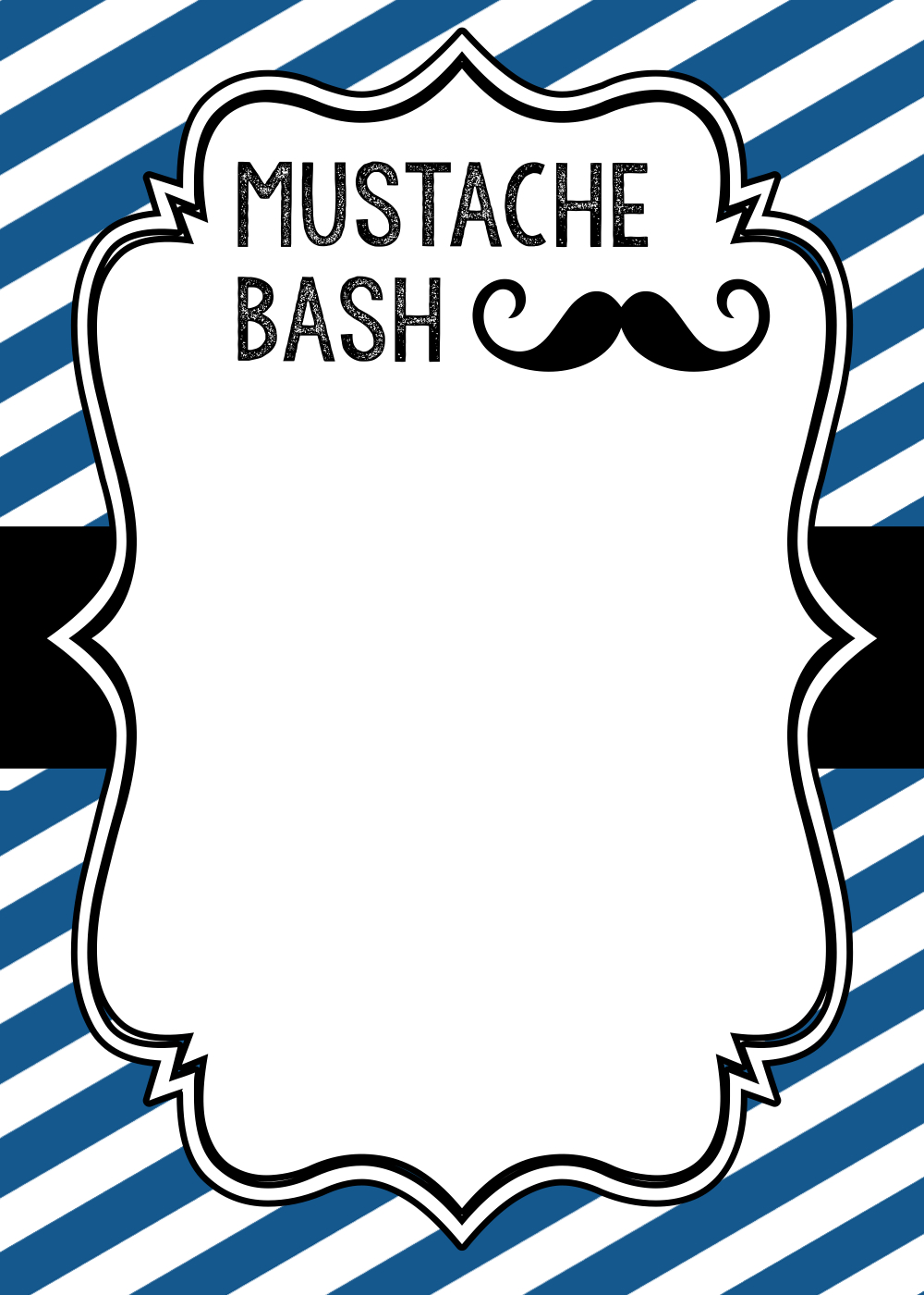 Mustache party baby shower or birthday invite paper trail design mustache invitation 1 filmwisefo Image collections