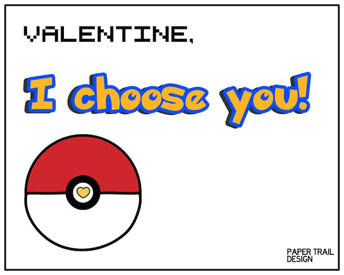 Free Printable Pokemon Valentine Cards Paper Trail Design
