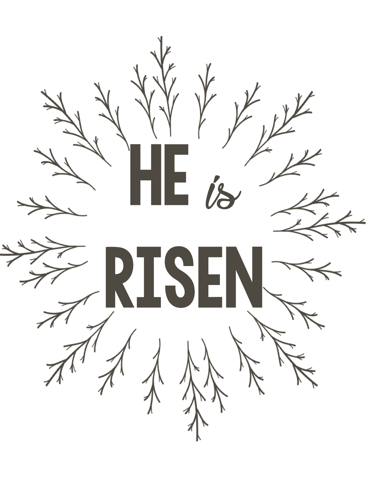It's just an image of Crazy He is Risen Printable
