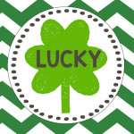 Lucky Free Printable St. Patrick's Day Lucky Art Shamrock Print.