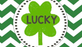 Saint Patrick's Day Lucky Free Printables & Blessed Bonus Prints