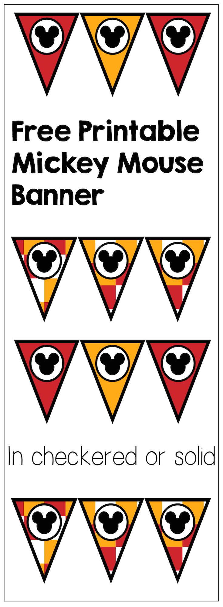 Mickey Mouse Banner Free Printable | Paper Trail Design