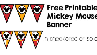 Mickey Mouse Banner Free Printable