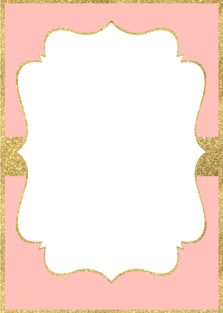 Pink And Gold Invitations Free Printable Paper Trail Design