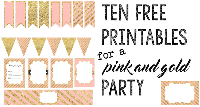 Pink And Gold Free Printables