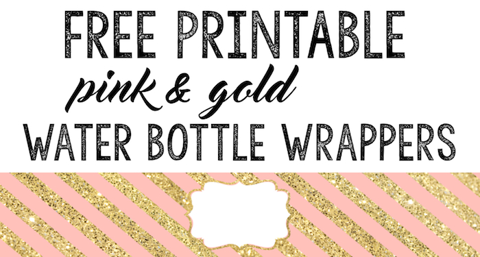 Pink and Gold Water Bottle Wrappers Free Printable - Paper Trail ...