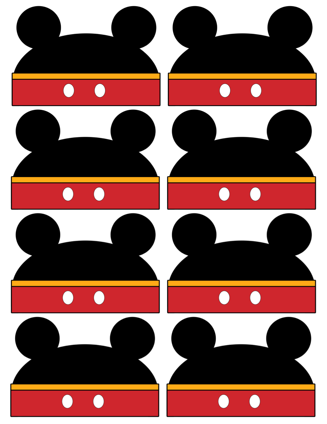 Mickey Mouse Labels Free Printable on Space Theme Printables