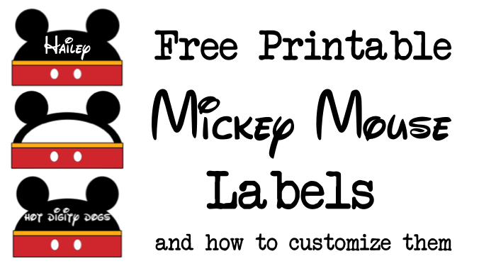 Beautiful Mickey Mouse Labels Free Printable - Paper Trail Design OT54