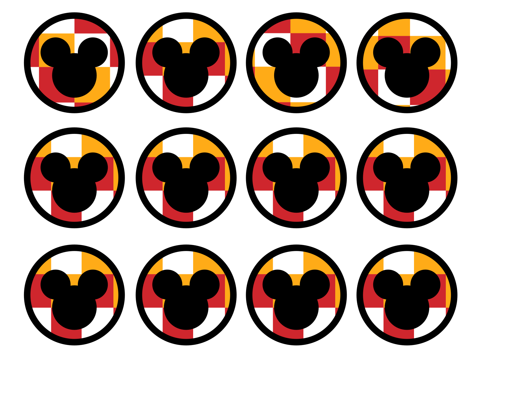 Mickey mouse cupcake toppers paper trail design mickey mouse cupcake toppers maxwellsz