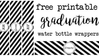 Graduation Water Bottle Wrappers