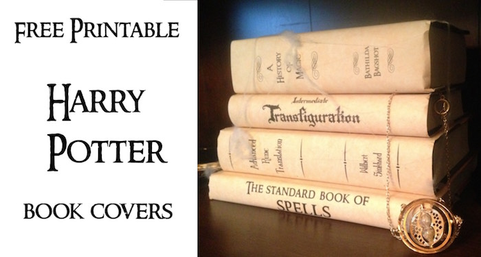 harry potter book covers free printables print these for your harry potter hogawrts themed party