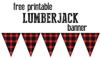 Lumberjack Banner Free Printable