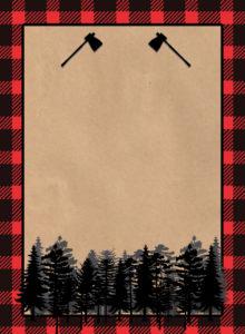 Lumberjack Invitation Free Printable. Throw a woodsy lumberjack birthday party and use this invitation.