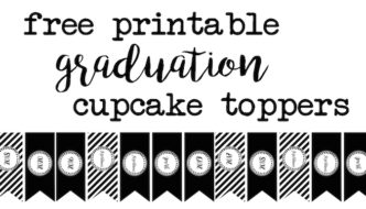 Graduation Cupcake Toppers free printable for 2016, 2017, 2018, 2019, and 2020. Use these for your graduation party to make an easy dessert or treat for everyone!