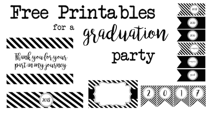 Graduation party free printables paper trail design negle Images