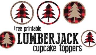 Lumberjack Cupcake Toppers Free Printable