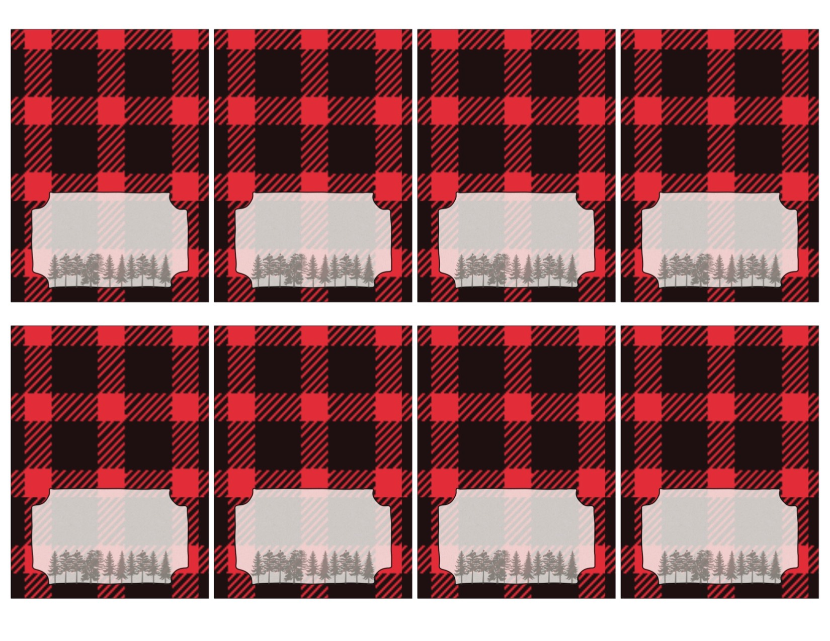 Lumberjack Food Labels Free Printable - Paper Trail Design