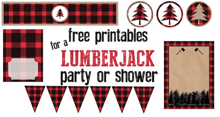 Thanksgiving cupcake decorations - Lumberjack Party Or Baby Shower Free Printables Throw A Great