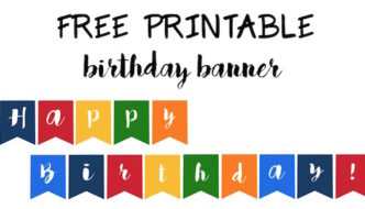 Happy Birthday Banner Free Printable