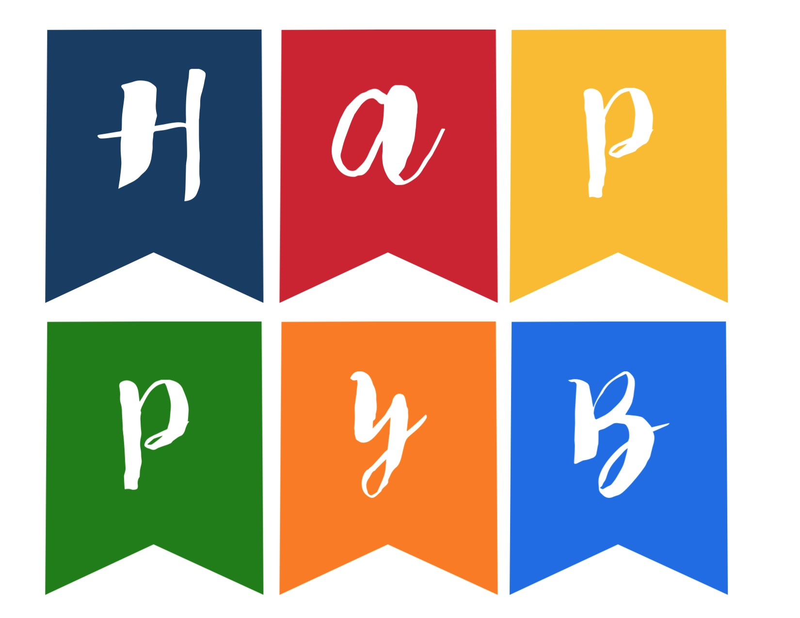Slobbery image throughout happy birthday banner printable