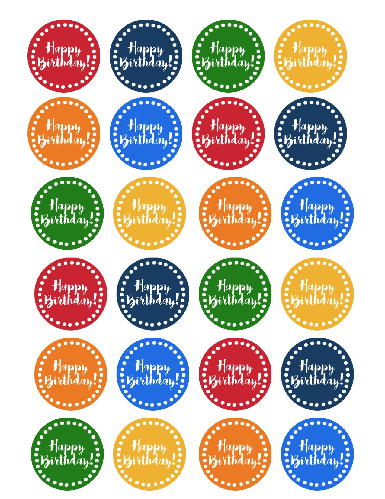 Print The Happy Birthday Cupcake Toppers Here Printables