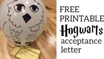 Harry Potter Hogwarts Acceptance Letter DIY free printable. Make a letter with Hedwig to Hogwarts for an 11th birthday. #papertraildesign #hogwarts #hogwartsletter #hogwartsacceptanceletter #hedwig