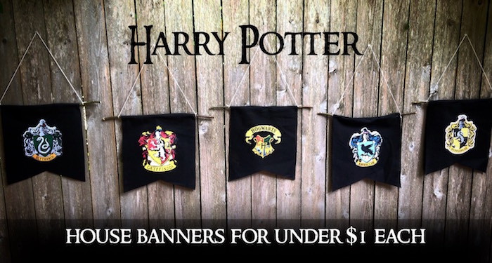 Harry Potter Hogwarts House Banners Diy Paper Trail Design