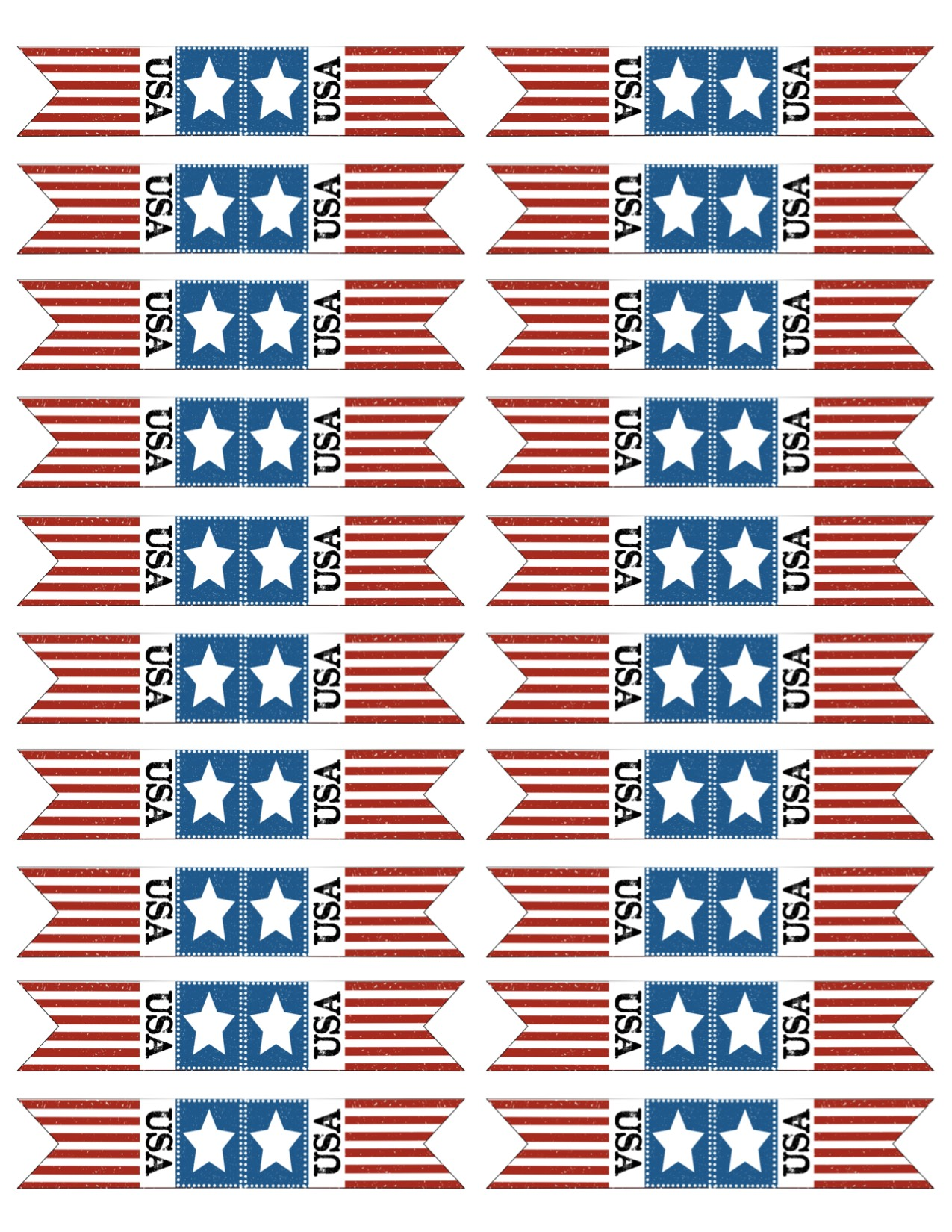 Bunting Flags For Your Patriotic American Celebration Print The 4th Of July Cupcake Toppers Here