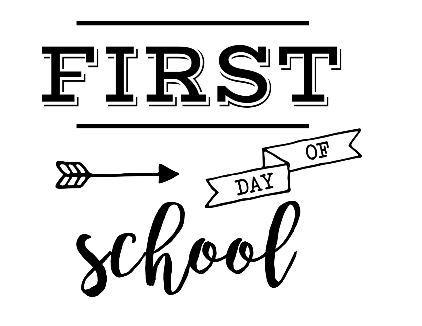 photo relating to First Day of Kindergarten Sign Printable identify Initially Working day of College or university Indicator Cost-free Printable - Paper Path Style