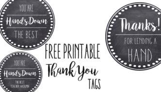 Thank You & Teacher Appreciation Tags Free Printable