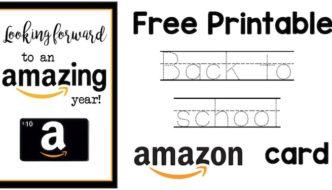 Back to School Teacher Amazon Card