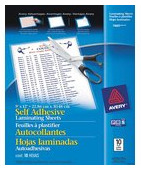 avery-self-adhesive-laminating-sheets