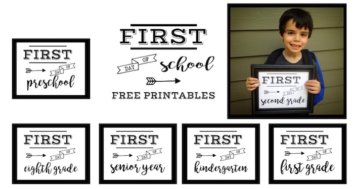 First Day of School Sign Free Printable Paper Trail Design – First Day of School Worksheet