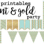Pink and Gold Free Printables - Paper Trail Design